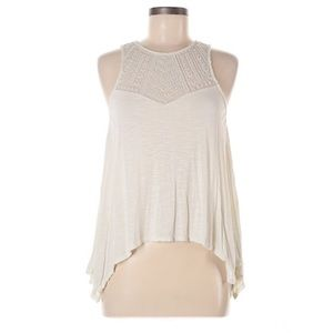 AE Ivory Lace Detail Tank Top